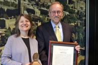Provost Kornbluth presents 2018 Sullivan Award to Robert Byrd